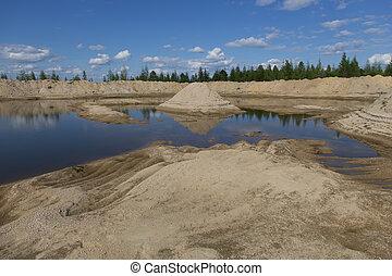 砂, 採石場