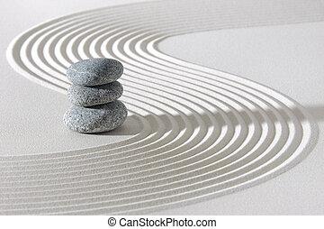 砂, 白, zen 庭, 日本語