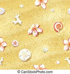 砂, 花, seamless, 背景