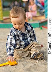 砂, 遊び, 子供