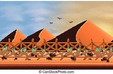 砂, 風景, 砂漠, 背景