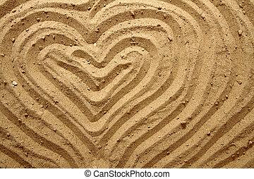 砂, 黄色, 手ざわり, (heart)