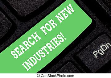 研究する, 概念, 単語, ビジネス, キーパッド, モデル, テキスト, 作成しなさい, industries., 捜索しなさい, 執筆, idea., intention, アイロンかけ, キー, キーボード, 新しい, メッセージ, 他, コンピュータ, ファインド