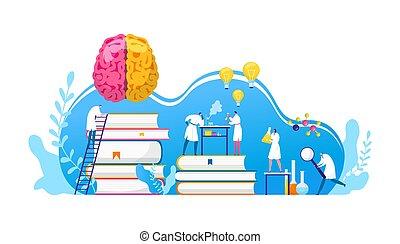 研究する, 薬, scientifical, 研究, research., illustration., 発見, 生物学, ∥あるいは∥, 化学, labaratory., 科学者, 脳, 科学, ベクトル