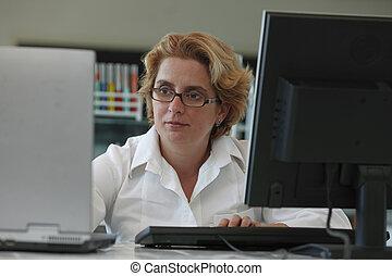 研究人員, 計算机, 工作