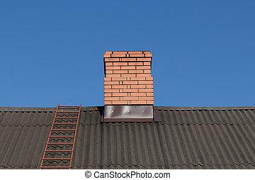 砖, 红, 烟囱