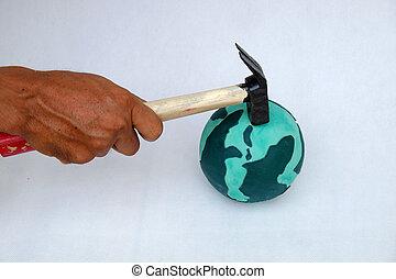破壊しなさい, 地球, 人間の術中