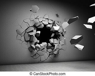 破壊, 壁