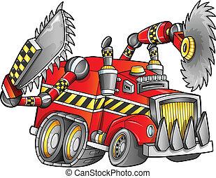 破滅的である, ベクトル, トラック, 車