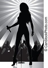 破裂音の歌手, ステージ, 実行