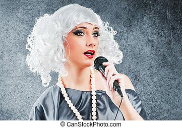 破裂音の歌手, agains, 灰色, 背景