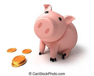 硬币, 猪一般的银行
