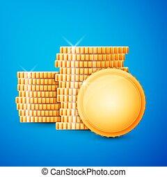 硬币, 现金, 金子