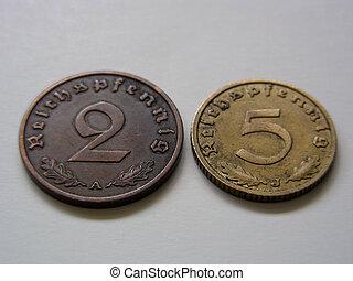 硬币, reich, 尾巴, 第三