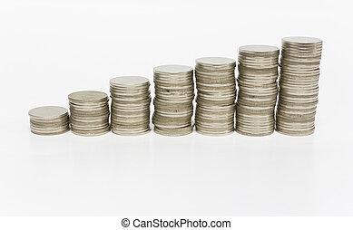 硬幣, 堆