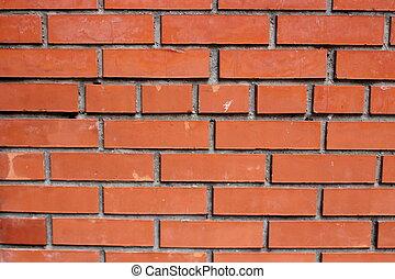 碎片, 牆, 磚, 紅色, 新