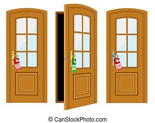 碑文, ドア