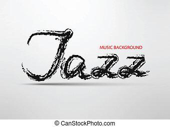 碑文, 抽象的, ジャズ, 背景, '