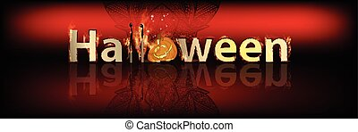 碑文, 横, halloween., 赤