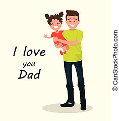 碑文, dad., 愛, 父, daughter., あなた