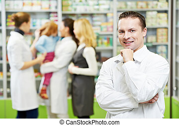 確信した, 人, 薬局, 化学者, 薬局