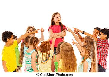 確信した, 女の子, 円, 友人, 立ちなさい