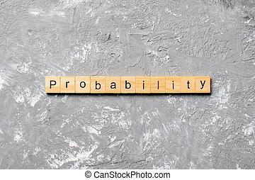 確率, block., テーブル, 単語, テキスト, 概念, 木, 書かれた