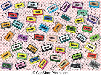 磁帶, 圖案, 彙整, 廣場