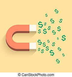 磁石, お金, ビジネス 実例