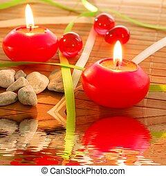 礦泉, 蠟燭