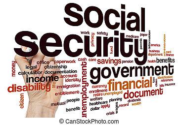 社会保障, 単語, 雲