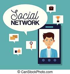 社会, ネットワーク, アイコン
