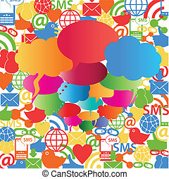 社会, ネットワーク, スピーチ, 泡