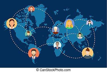 社会, ネットワーク, 人々