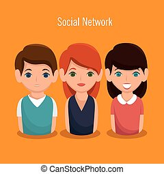 社会, 人々, ネットワーク, 共同体, アイコン