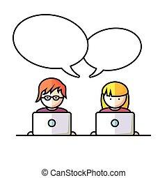 社会, 媒介, 网络, 人们
