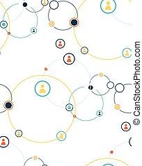 社会, 媒体, グループの仕事, 概念