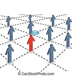 社会, 接続される, ネットワーク, 人々