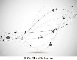 社会, concept., ネットワーク