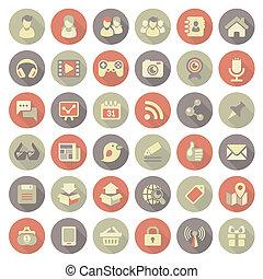 社會, 套間, 現代, 聯网, 圖象