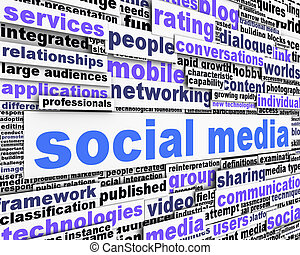 社會, 媒介, 消息, 概念性, 設計