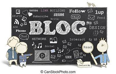 社會, 媒介, 由于, blogging