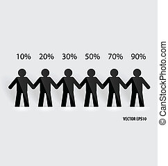 社會, 网絡, 概念, :, 人們, 刪去, ......的, 紙, 矢量, illustr