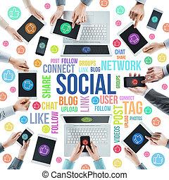 社會, 网絡, 社區