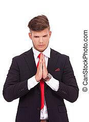 祈ること, ビジネス男