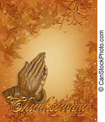 祈ること, ボーダー, 感謝祭, 手