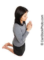 祈ること, 女性のひざまずくこと, ビジネス