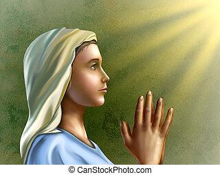 祈ること, 女