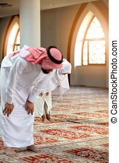 祈ること, 女, モスク, muslim, 人