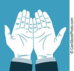 祈ること, 手